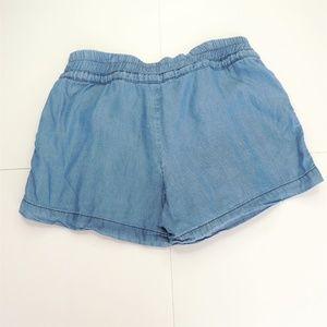 Love Tree Shorts - Love Tree Drawstring Chambray Shorts Small